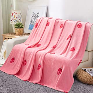 Manta Mantas Aire Acondicionado Siesta Coral Velvet Sheets Summer Blanket 2 * 2.3m-Pink Strawberry