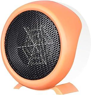LTJX Calefactor Eléctrico, Baño Pequeno 500W Calentacdor Personal Termoventiladores para Espacio Dormitorio Oficina Hogar,Naranja