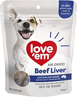 Love Em Air Dried Beef Liver Dog Training Treats 90g