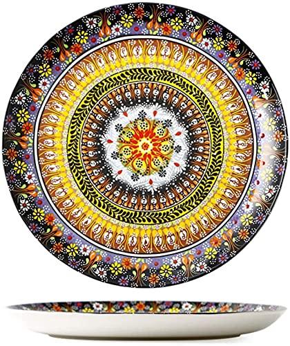 Juego de platos, Conjunto de vajillas de porcelana, conjunto de combinación de vajillas Bohemia |10 placas / 2 tazones / 4 tazas / 4 tazas - Conjuntos de cena de cerámica exótica, servicio para 4 pers