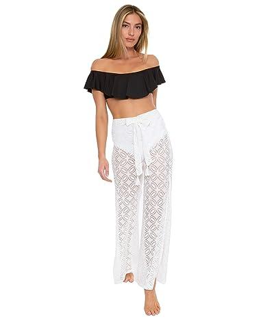 Trina Turk Pacheco Crochet Side Slit Pants
