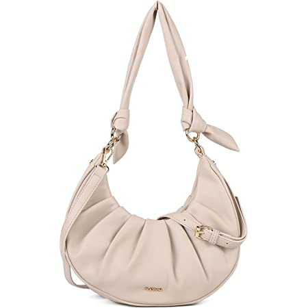 GLITZALL Handtaschen für Damen,Kleine Schultertaschen für Damen,Mädchen Modern Shopper Hobo Bag Beuteltasche,Umhängetaschen mit weicher Schulter(Beige)