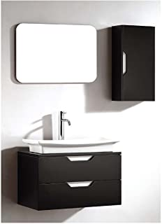 Dawn UN7807-06 Vanity Set with Sink Top, Cabinet and Mirror