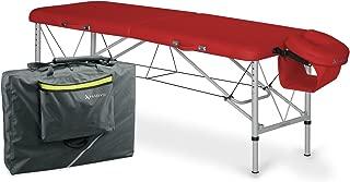 Habys Aero 62-90cm Red Ultralight Aluminium Portable Massage Table Package