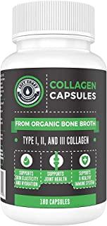 Sponsored Ad - Organic Collagen Pills Supplement - 180 Count Organic Collagen Caps - Organic, Grass Fed Bovine & Organic C...