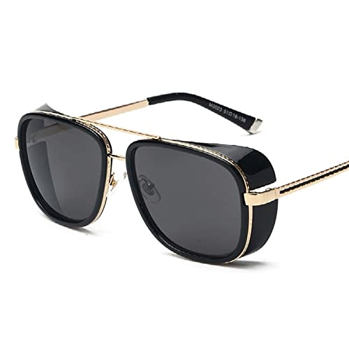 95a9c71baac U.S. CROWN Tony Stark Iron Man Steampunk Unisex Sunglasses for Men and  Women with Case