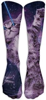 Hunter qiang, Laser Cat Space - Calcetines unisex de ternero, 50 cm