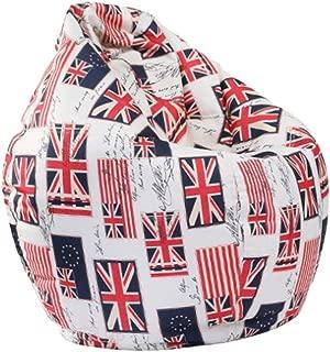 Serenable Bean Bag Chair, Convertible Chair Folds from Bean Bag - UK Flag