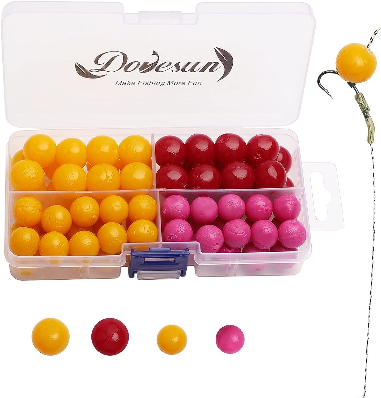 Dovesun Finally popular brand 72PCS Carp Fishing Bait Flavors 3 Max 50% OFF Soft Eggs