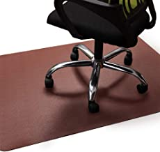 Office Chair Mat Brown, Non-Curve Under Computer Desk Pad for Hardwood Floor and Heavy Appliance, Anti-slip 47x35x.07