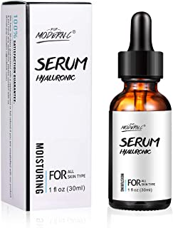 Hyaluronic Acid Serum for Skin & Face with Vitamin E, Witch Hazel, Natural Aloe Deeply Hydrates & Plumps Skin to Fill-in Fine Lines & Wrinkles Anti-Age Moisturizing (HYDROLYZED)
