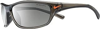 Nike Golf Men's Rabid Rectangular Sunglasses, Matte Deep Pewter/Total Orange Frame, 63 mm