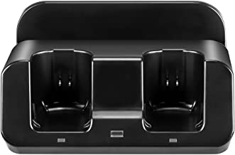Wii U Charger, Delymc PS23 Wii Charger Docking Station for Nintendo Wii U GamePad and Wii Remote Controller with Two 2800mAH Batteries and Charging Cable - Black