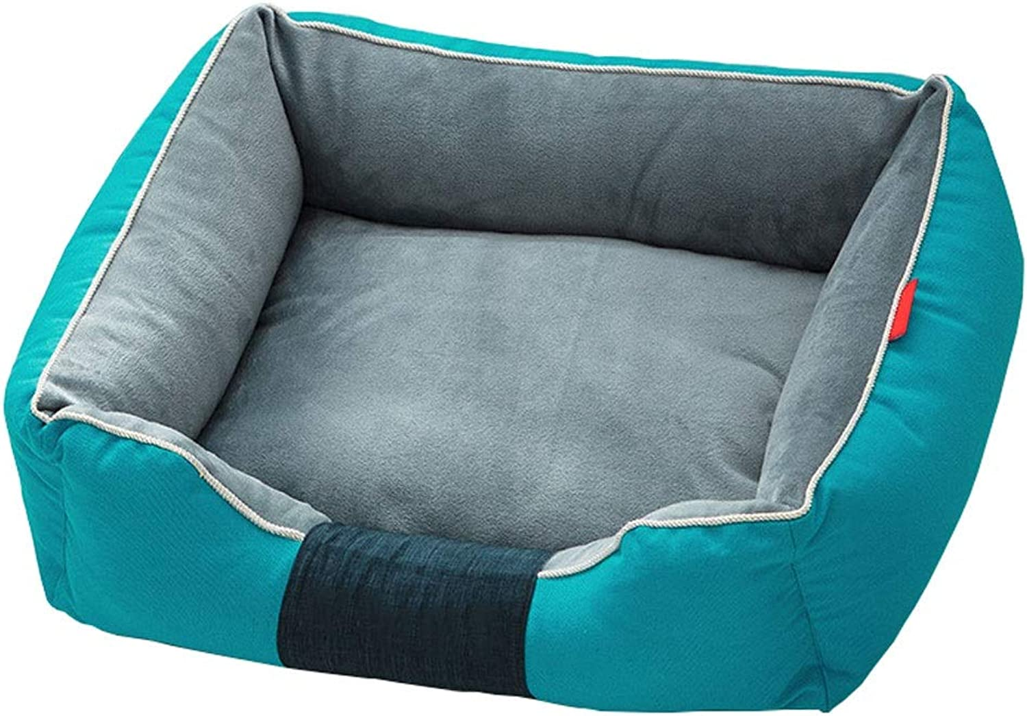 Rectangle Or Square Shape Dog Cave Bed Pet Cat Sofa Detachable Washable for Cats and Small Dogs (color   bluee, Size   M 58  45  20cm)
