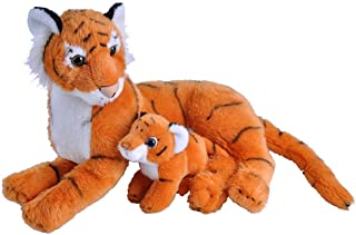 (TIGER) - Wild Republic Mom and Baby Tiger Plush, Stuffed Animal, Plush Toy, Gifts for Kids, Zoo Animals, 28cm
