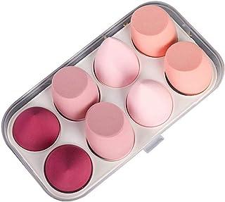 Make-upsponsblender 8-delig, make-upspons Schoonheid cosmetisch hulpmiddel Foundationspons, roze