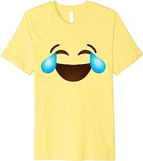 Tears of Joy Crying Smiling Emoji Emoticon Smileys Premium T-Shirt