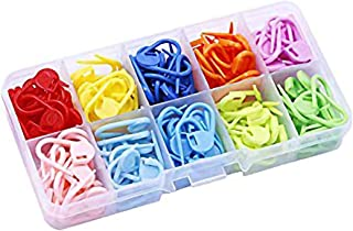 【BEAUTY PLAYER】段数マーカー ステッチマーカー カラフル かぎ針編み 段数マーカー 編み物 マーカー 段数リング 編み物ツール 編み物用品 収納ケース付き 携帯に便利 10色 120枚セット