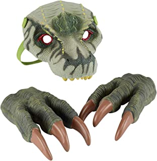 Dinosaur Hand Puppet Show Stage Plays Cosplay Dinosaur Claw Glove 1pcs of Jurassic World Claw Glove Plastic Oversized Tyrannosaurus Claws for Adult Kids Halloween and Dress-ups