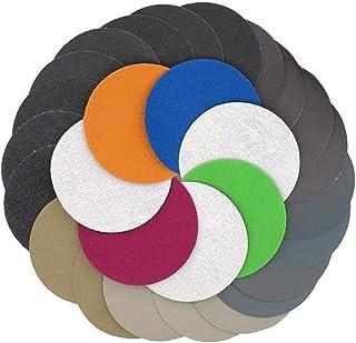 YONIK 耐水ペーパー サンドペーパー セット 丸型 75mm 紙やすり 鏡面磨き 水研ぎ (30枚各5枚 6種粒度 800 1000 1200 1500 2000 2500)