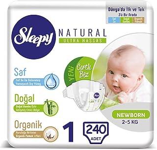 Sleepy Natural Bebek Bezi 1 Beden Yenidoğan 40 * 6 240 Adet