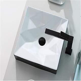 BABIFIS Washbasins,Rectangular Shape Sink Single Hole Bathroom Sink Hand Washing for Bathroom Washroom Wash Stands Vanity Units B