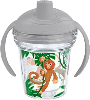 Tervis 1177829 Swingin on a Vine Tumbler with Wrap and Moondust Gray Lid 6oz My First Tervis Sippy Cup, Clear