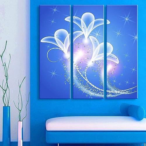 conveniente Cuadro sobre Lienzo LED Impresiones de la Lona Arte Arte Arte de la Parojo, Orquídea Pintura Art para Muro Decoración Casera Moderna (Interior Marco) Lámpara de Parojo,24x70cm  mejor oferta