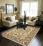Traditional Area Rugs for Living Room 8x10 Cream Large Rugs for Dining Room 8x11 Clearance Under 100