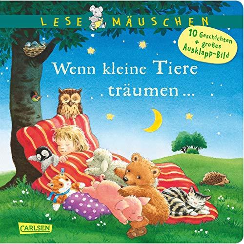 Lesemäuschen: Wenn kleine Tiere träumen ... Gutenachtgeschichten: Mein erstes Buch zum Vorlesen und Entdecken mit großem Ausklappbild