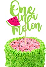 One in a Melon Cake Topper Fruit First Birthday Party Decor Photo Summer 1st Watermelon Smash Themed Baby Girl Kids Party Supplies Decorations