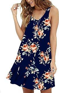 094907e455b0 MOLERANI Women s Casual Swing Simple T-Shirt Loose Dress
