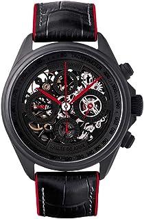 Heli Reymond - Reloj suizo automático esqueleto cronógrafo para hombre línea de transparencia T4011 manecillas rojas
