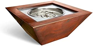 HPC Fire Hearth Products Controls Sierra Copper Fire Pit Bowl (SIER36-EI-NG-120VAC), Electronic Ignition, Natural Gas, 120VAC, 36-Inch