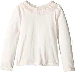 Long Sleeve Ruffle Collar Top (Toddler/Little Kids/Big Kids)