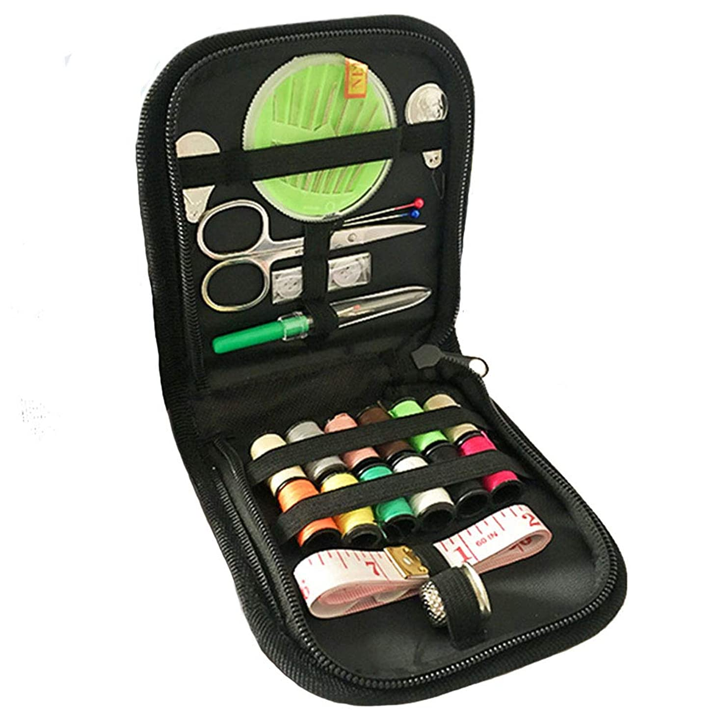 Auony Travel Sewing Kit, 45 DIY Premium Sewing Supplies Organizer Include Thread, Sewing Needles, Scissors, Thimble & Tape Measure for for Home, Travel & Emergencies