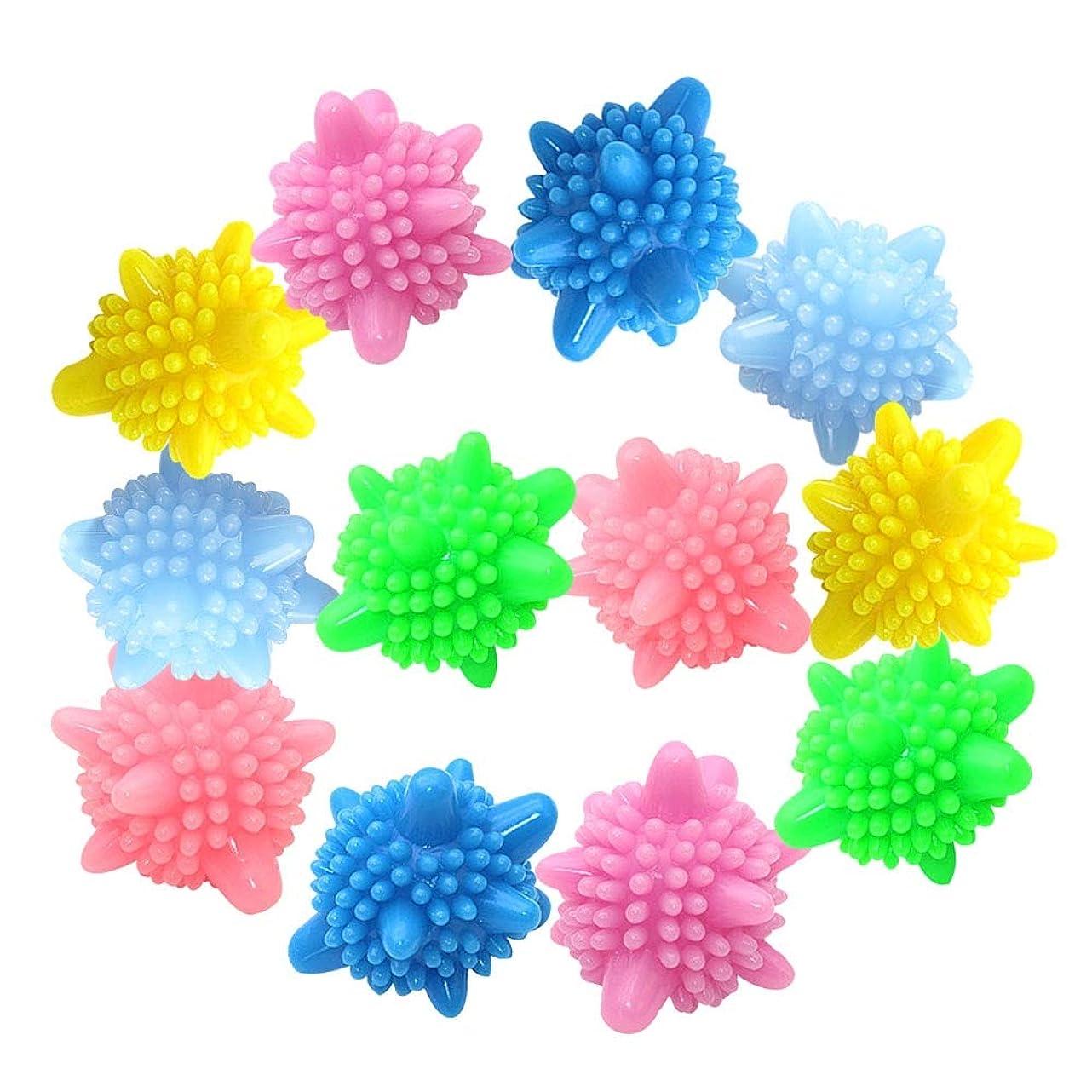 皮肉な美人定期的再使用可能な洗濯用ボール 環境に優しい洗濯機ボール クリーニングアンチワインディングクリーンボール 12個