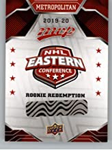 2019-20 Upper Deck MVP Rookie Redemptions Hockey #RD-3 Metropolitan Redemption Card Official NHL Trading Card From UD