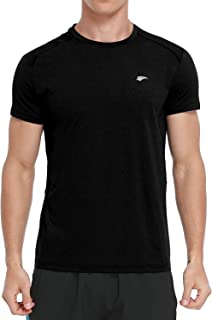 Men's Dry Fit Short Sleeve T-Shirt Moisture Wicking Gym Running Workout Athletic Shirts