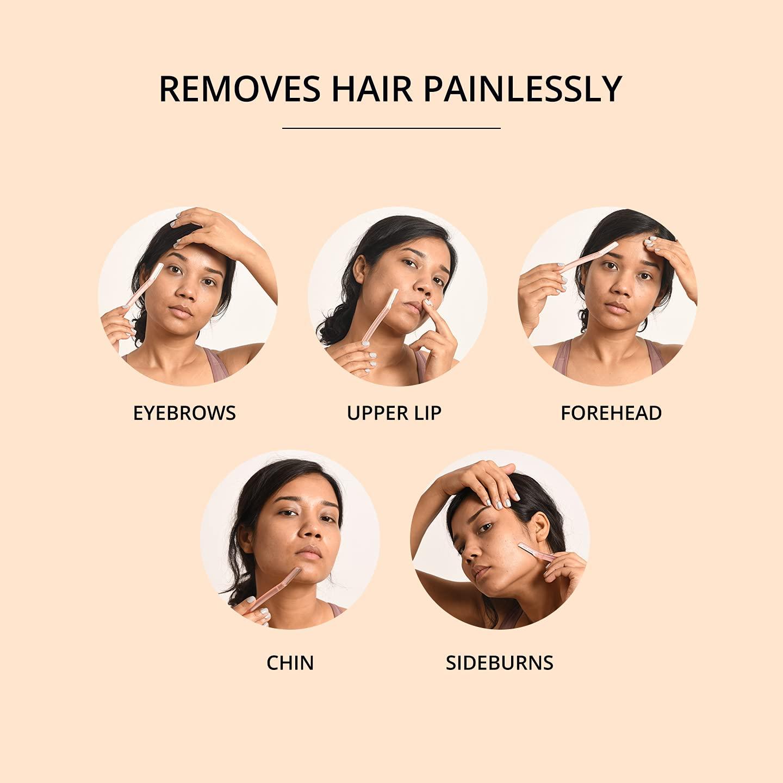 Carmesi Carmesi Facial Razor for Women - For Instant & Painless Hair Removal (Eyebrows, Upper Lip, Forehead, Peach Fuzz, Chin, Sideburns) - Pack of 3, 3 count
