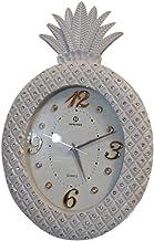 ساعة حائط انيقة على شكل أناناس لون أبيض
