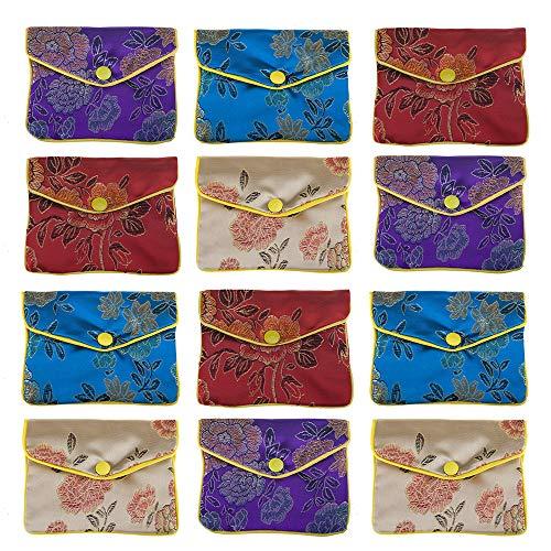 aspire 120 pièces Sac de Bijoux, Cadeau de Sac à Main à Fermeture Éclair Sacs, Fermeture à Rabat – 7,6 x 10,2 cm, Coloris Assortis, Taille Unique