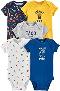 Carter's Baby Boys 5-Pack Short Sleeve Original Bodysuits (Small Fry)