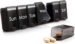 Weekly Pill Organizer 7 Day,XL Daily Pill Case Large, mossime 2021 Design Pill Box with Removable Compartme...
