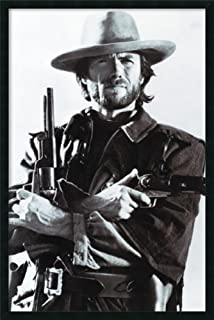 Framed Wall Art Print Clint Eastwood 25.25 x 37.25
