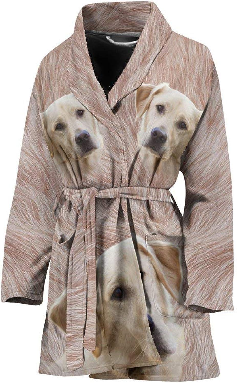 Deruj Labrador Retriever Print Women's Bath Robe