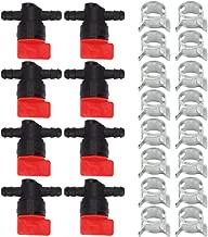 Hilom 8Pcs 494768 698183 Fuel Shut Off Valve with clamp for Briggs & Stratton Murray Oregon 07-406 John Deere AM36141 AM107340 Toro 54-3150 1-603770 Lawn Tractor