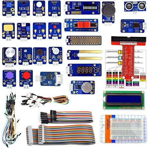 Adeept 24 Module Sensor Starter Kit f¨¹r Raspberry Pi 4/3/2 B/B +, DS18b20, Raspberry Pi Sensor Kit mit Tutorials, mit C- und Python-Code, 95 Seiten PDF-Handbuch