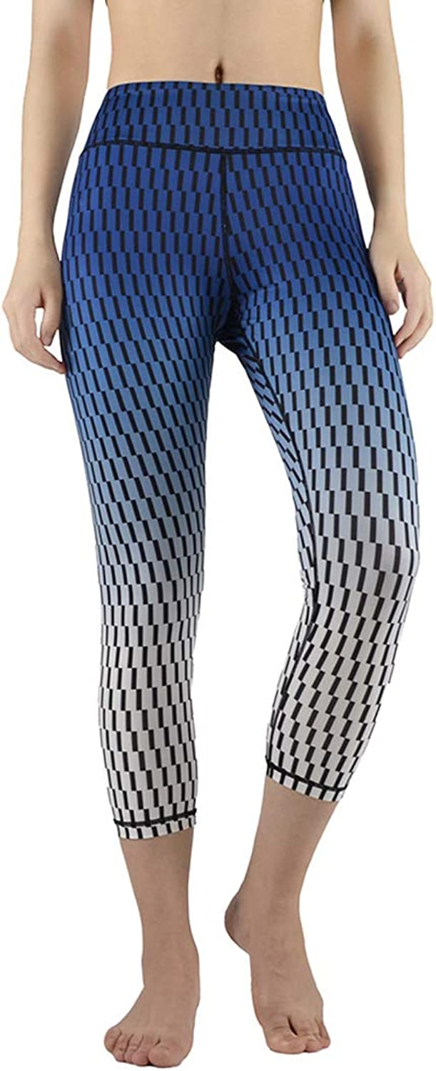 KEVIN POOLE Yoga Pants Tight High Waist Summer Cropped Pants Fitness Bodybuilder Leggins for Womens (Size   M)