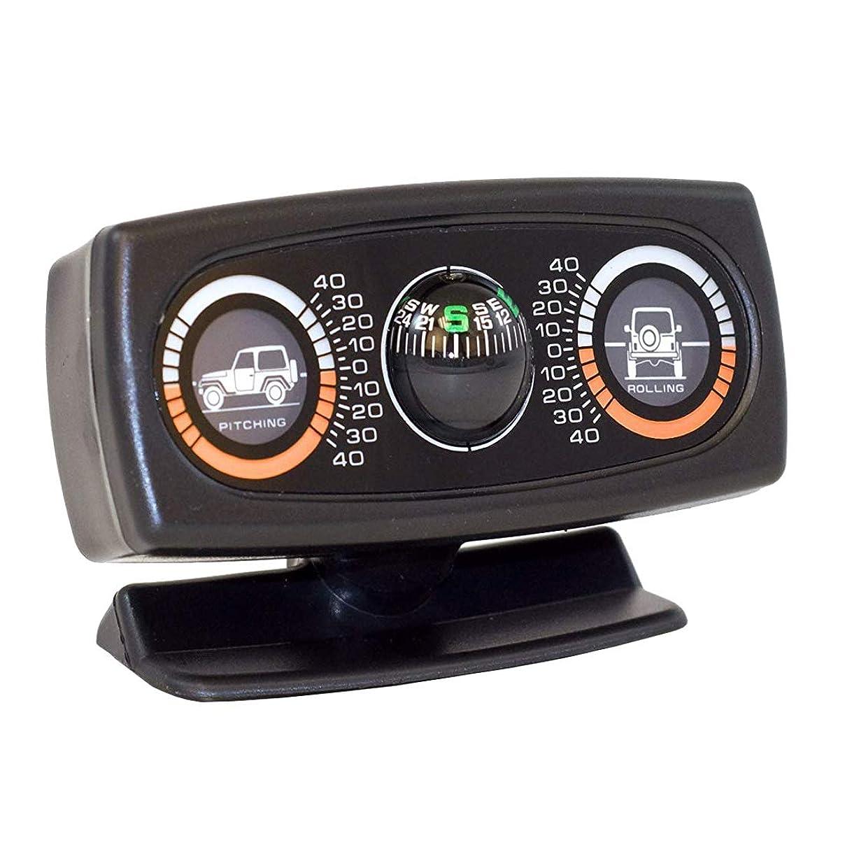 冗長お嬢ロールseiyishi 傾斜計 クライノメーター 夜間照明付き シガー電源12V 前後左右±40度対応 4WD車 キャンピングカー での悪路走破に SY-CQ-01